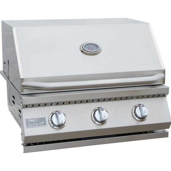 BBQ 3-Burner Built-In Convertible Gas Grill by Kokomo Grills