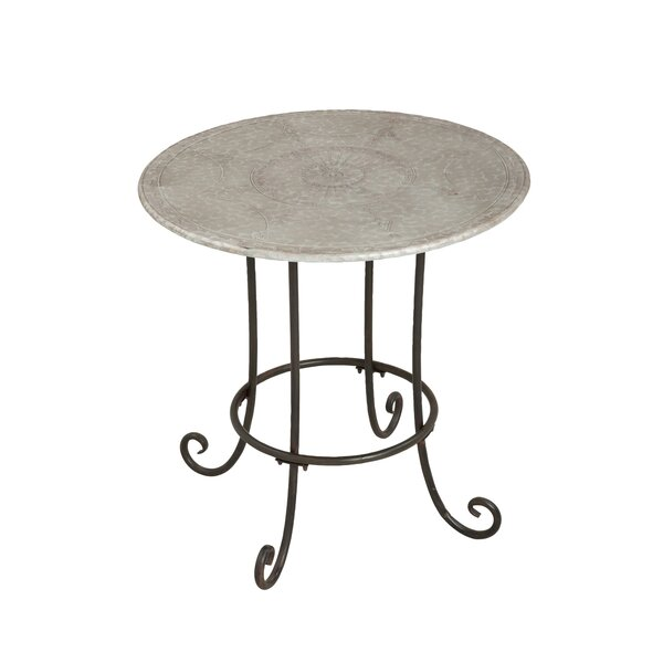 Cecere Round Iron Bistro Table by Fleur De Lis Living