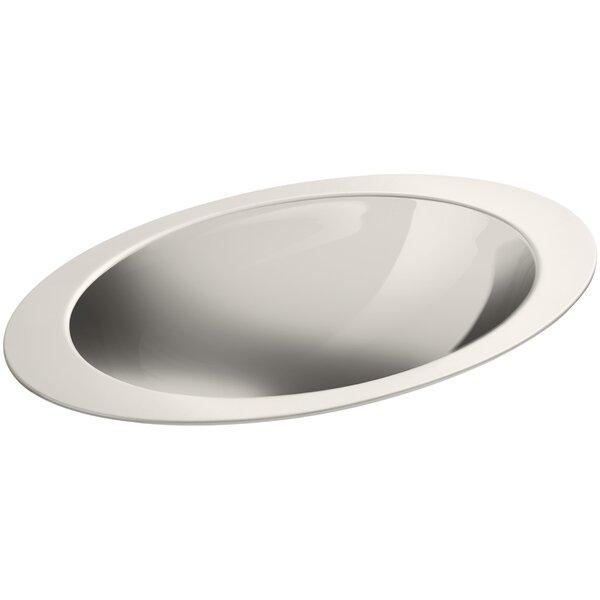 Rhythm Metal Oval Drop-In Bathroom Sink by Kohler