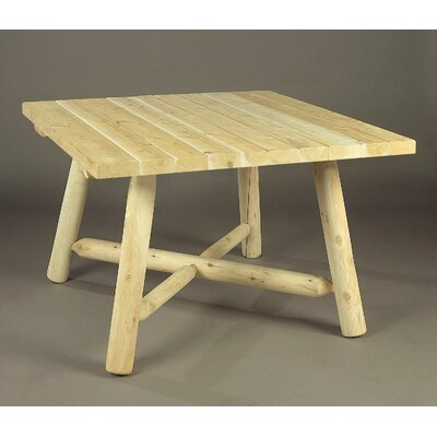 Solid Wood Dining Table Rustic Natural Cedar Furniture Finish: Natural