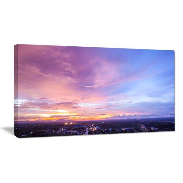 Beautiful Sunset at Trang Thailand Photographic Print on Wrapped Canvas by Design Art