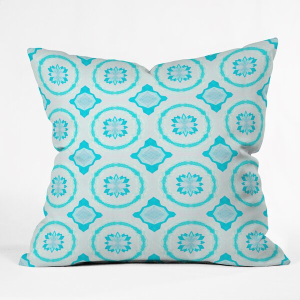Elisabeth Fredriksson Crystal Flowers Throw Pillow by Deny Designs