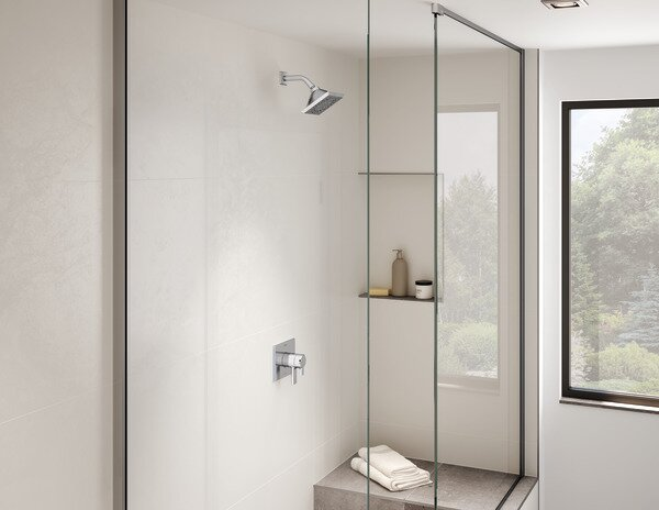 Pivotal 17 Series Tub and Shower Faucet Trim with Lever Handles and Monitor by Delta
