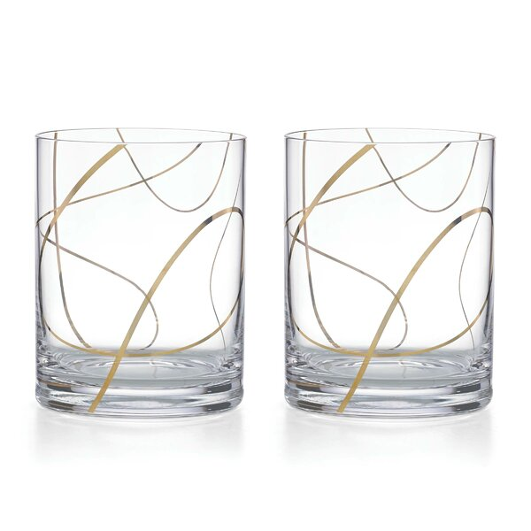 Kate Spade New York Mulberry Street DOF Cocktail Glasses (Set of 2) by kate spade new york