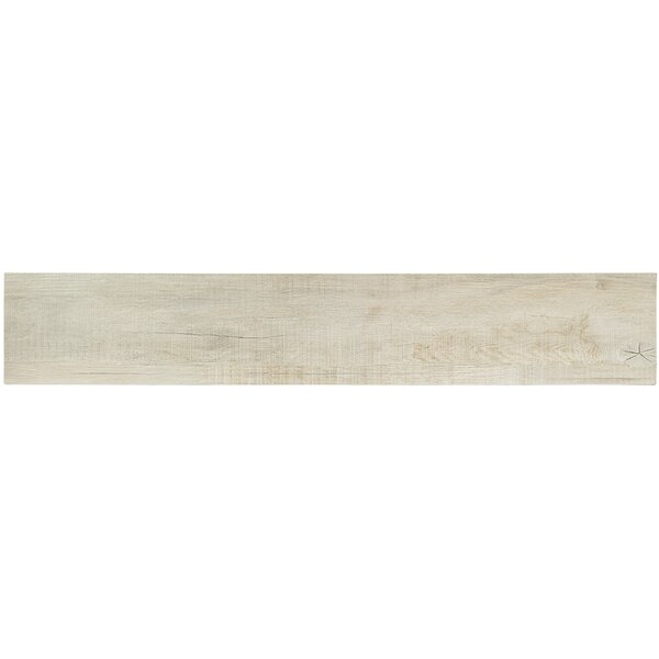 Baiji 8 x 48 Porcelain Wood Look Tile in Milk by Splashback Tile