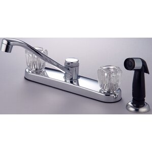 Hardware House Double Handle Deck Mounted Kitchen Faucet