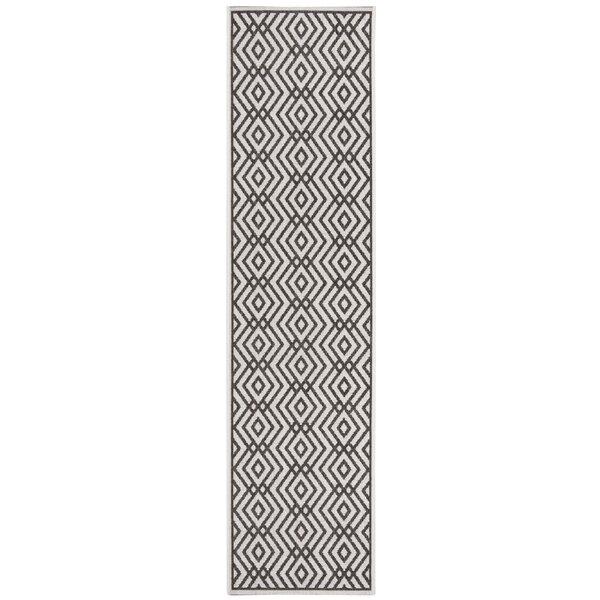 Kallias Contemporary Light Gray Area Rug by Brayden Studio