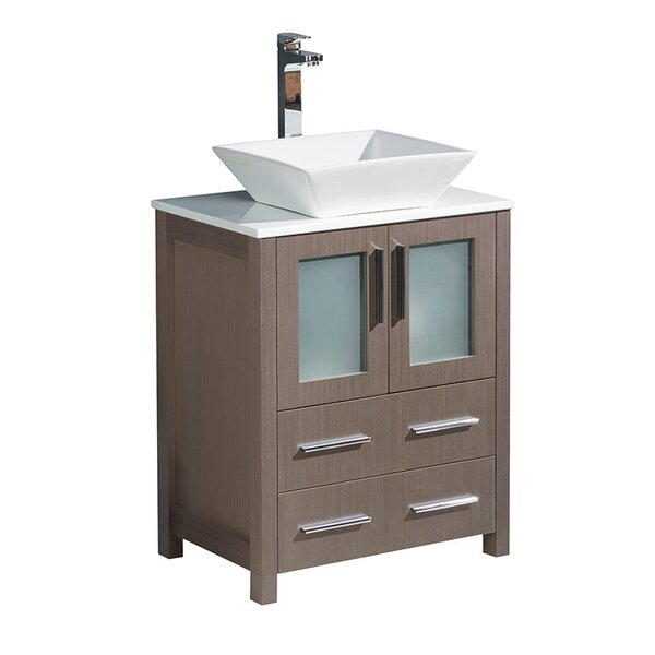 Torino 24 Single Bathroom Vanity Set by FrescaTorino 24 Single Bathroom Vanity Set by Fresca