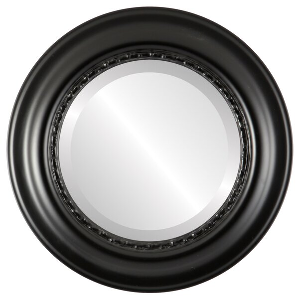 Winchelsea Framed Round Accent Mirror by Charlton Home