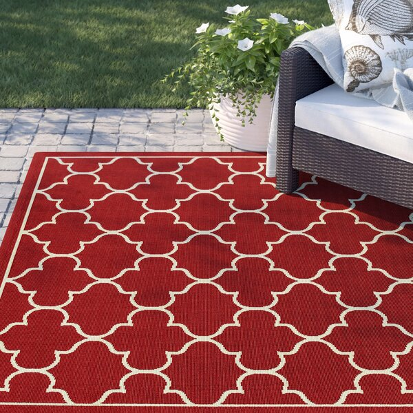 Barlowe Red Indoor/Outdoor Area Rug by Sol 72 Outdoor