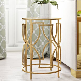 Buy clear Victorine  End Table By Willa Arlo Interiors