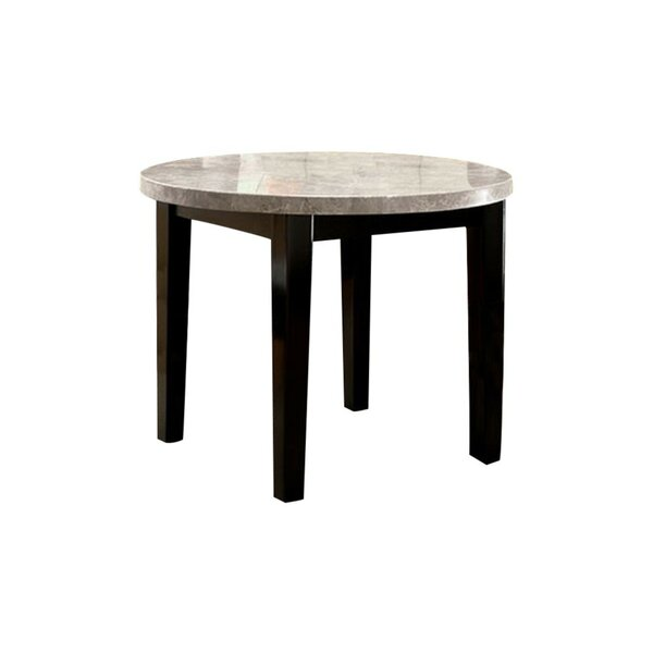 Sollars Marble Top Round Dining Table by Winston Porter