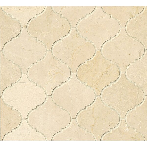 Marble Mosaic Tile in Crema Marfil Select by Grayson Martin