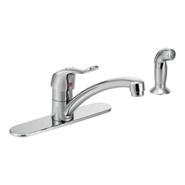 M-Dura One Handle Low Arc Kitchen Faucet by Moen