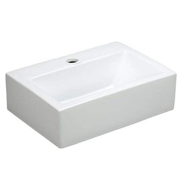 Porcelain Ceramic 17 Wall Mount Bathroom Sink by Elanti