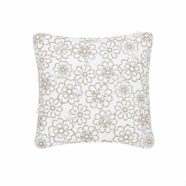Cotton Indoor / Outdoor Floral Throw Pillow