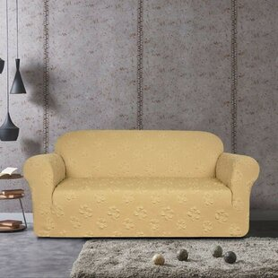 Flower Jacquard Loveseat Slipcover