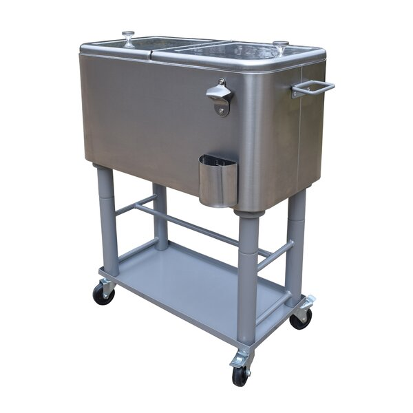 80 Qt. Party Cooler Cart by Oakland Living