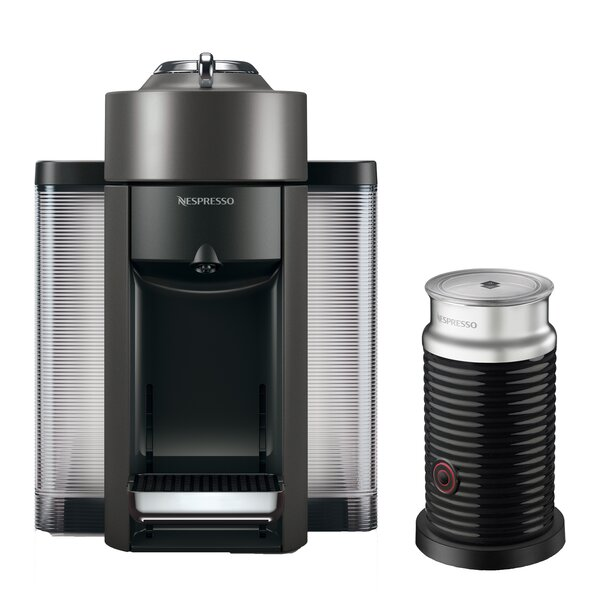 DeLonghi Nespresso Vertuo Coffee and Espresso Single-Serve Machine with Aeroccino Milk Frother by Nespresso