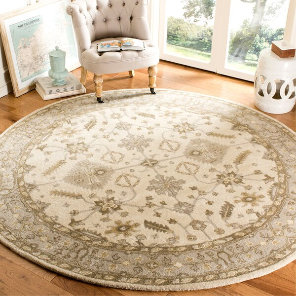 Colliers Hand-Tufted Wool Cream/Light Gray Area Rug by Astoria Grand