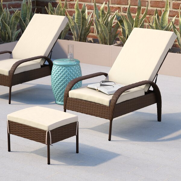 Banker Patio Chair with Cushion by Wade Logan