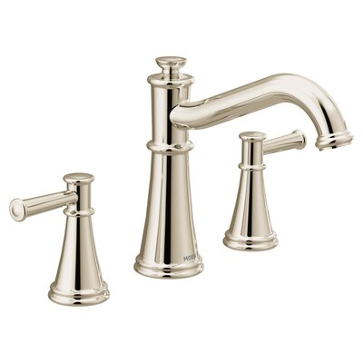 Deck Mount Double Handleed Tub Faucet Trim Polished Nickel photo