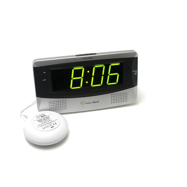 Boom Large Display Alarm Table Clock by Sonic Alert