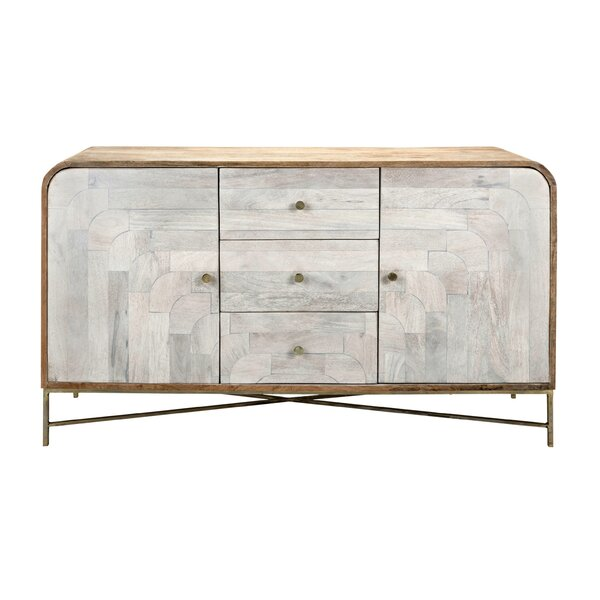 Chadwell Wood And Metal Console Table By Bungalow Rose