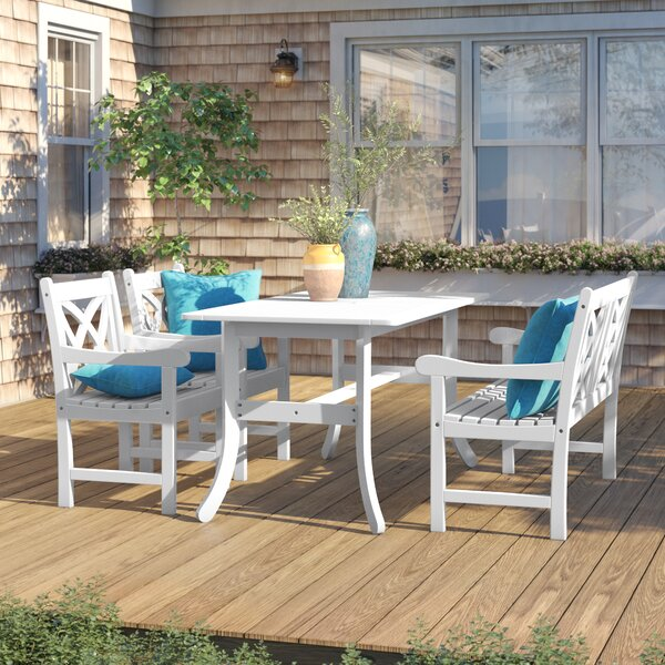 Haylee 4 Piece Dining Set by Beachcrest Home