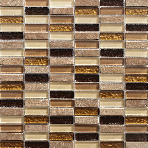 La Jolla Stacked 0.625 x 2 Glass Mosaic Tile by Parvatile