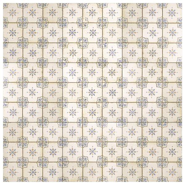 Rioja 13 x 13 Ceramic Field Tile in Blue/Cream by EliteTile