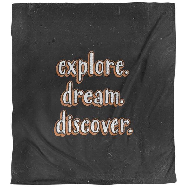 Explore Dream Discover Quote Single Duvet Cover