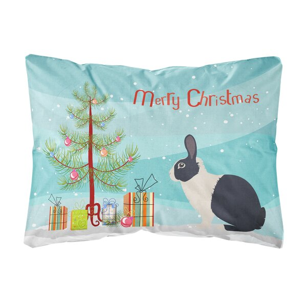 Forsyth Dutch Rabbit Christmas Indoor/Outdoor Throw Pillow by The Holiday Aisle