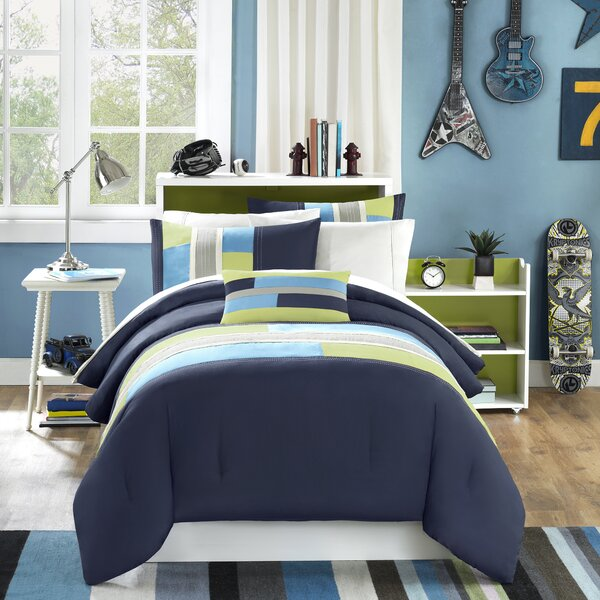 Woltjen Reversible Comforter Set by Ebern Designs