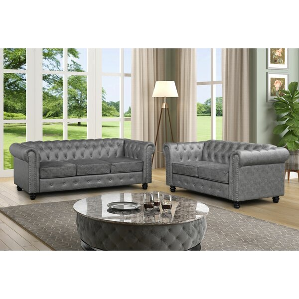 Best Reviews Sharniece 2 Piece Standard Living Room Set by Ophelia & Co.