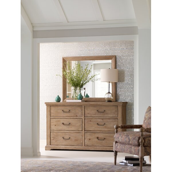 Monteverdi 6 Drawer Double Dresser with Mirror by Rachael Ray Home