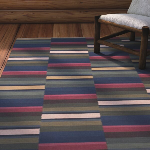 Kwanita Hand-Woven Blue/Green/Pink Area Rug by Loon Peak