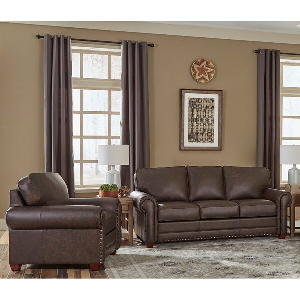 Lexus 2 Piece Leather Sleeper Living Room Set by 17 Stories