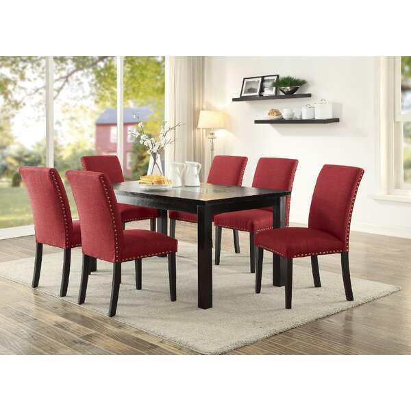 Hoeft 7 Piece Dining Set by Alcott Hill