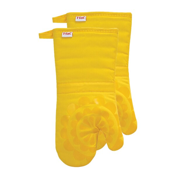 Medallion Cotton Silicone Oven Mitt (Set of 2) by T-fal