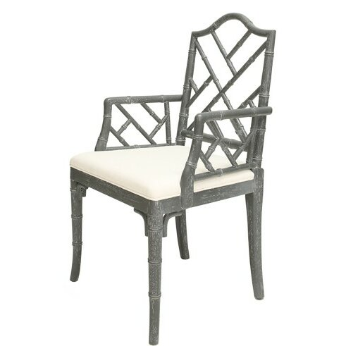 Linen Upholstered Arm Chair By Worlds Away