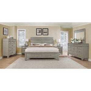 vasilikos solid wood platform 5 piece bedroom set