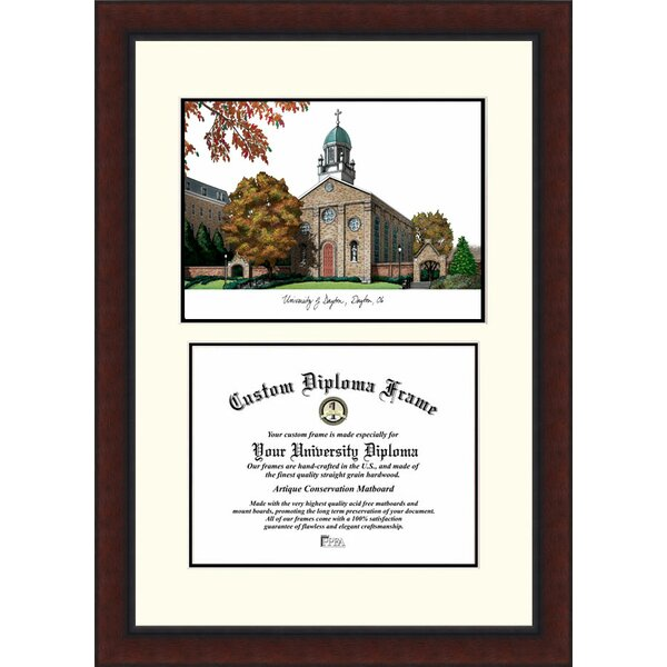 NCAA Dayton University Legacy Scholar Diploma Picture Frame by Campus Images