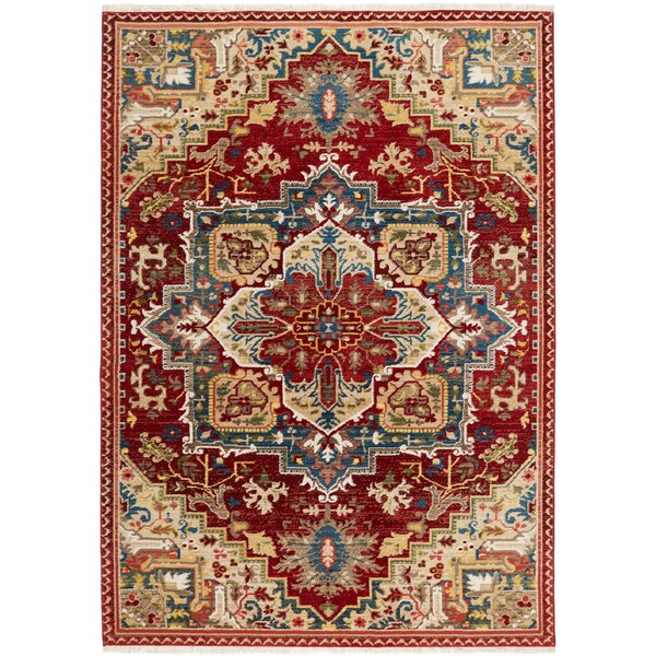 Ridgefield Red Area Rug by Nicole Miller