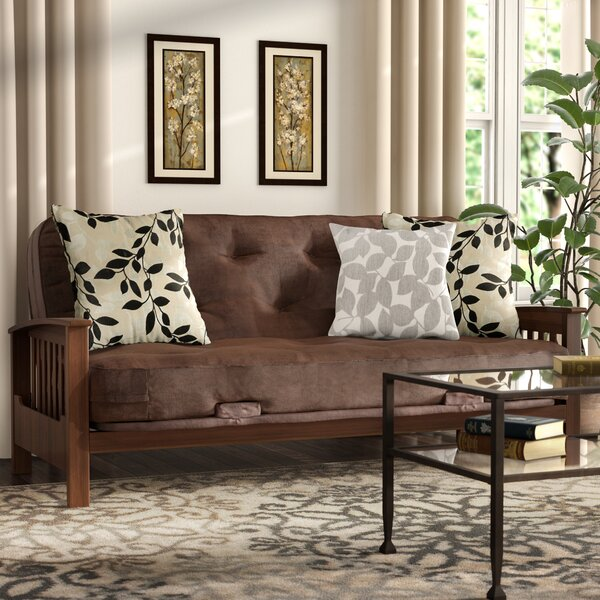 Massengill Wood Arm Futon and Mattress by Andover Mills