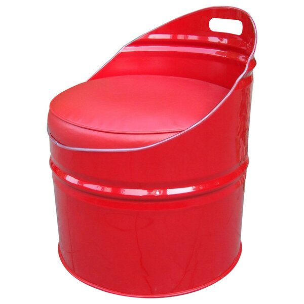 Very Red Chair with Cushion by Drum Works Furniture