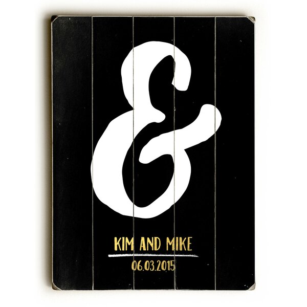 Personalized Ampersand Wall Art by The Holiday Aisle