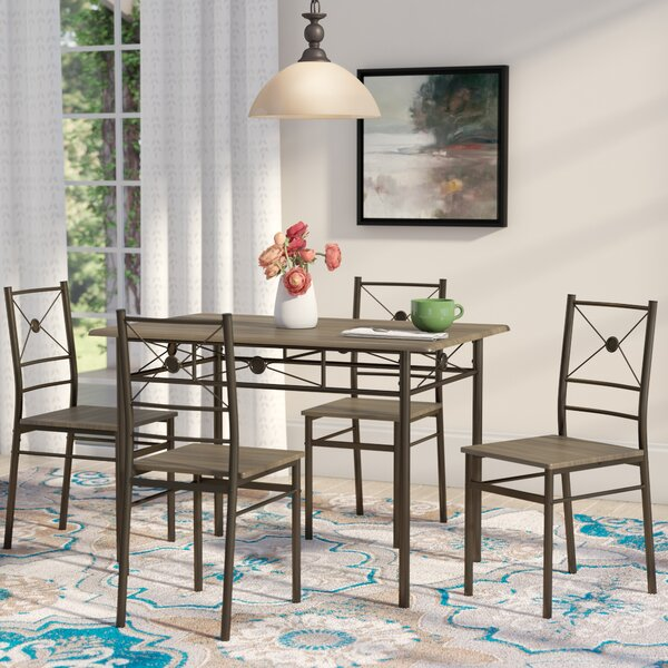Kieffer 5 Piece Dining Set by Andover Mills Andover Mills