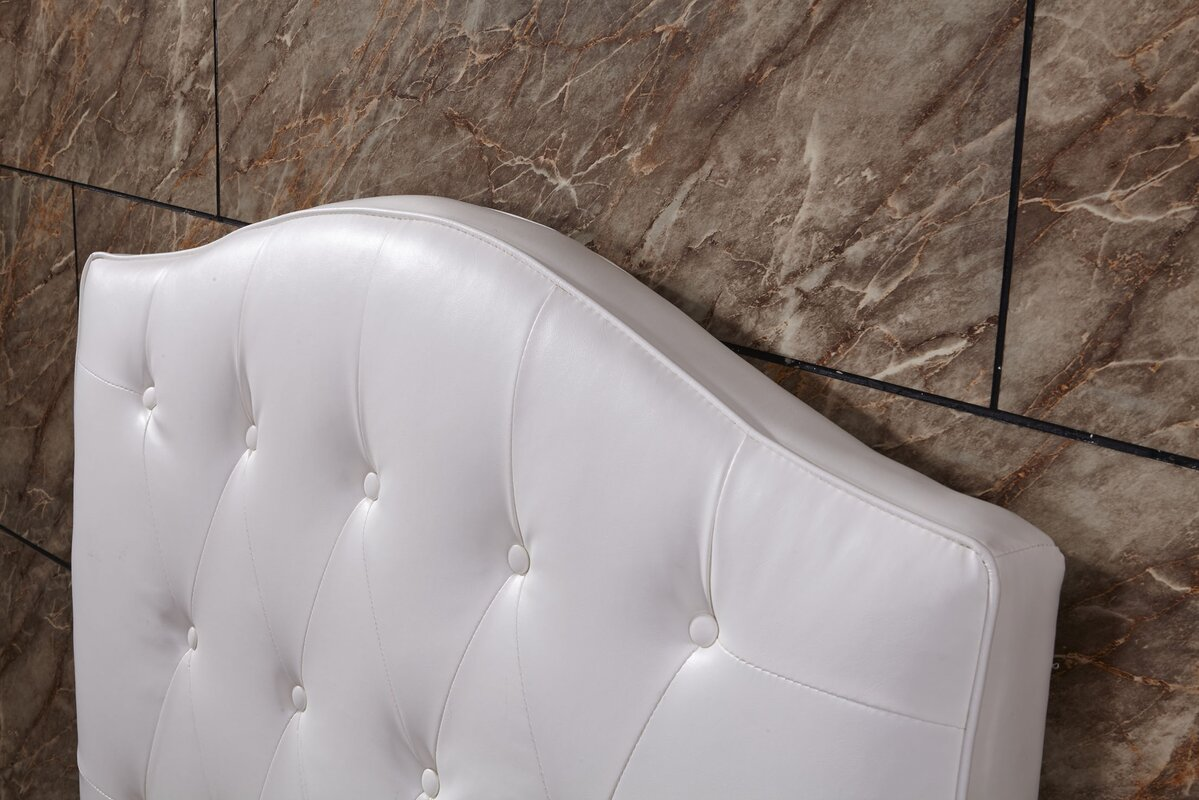 Bellasario Collection Twin Button Tufted Panel Headboard