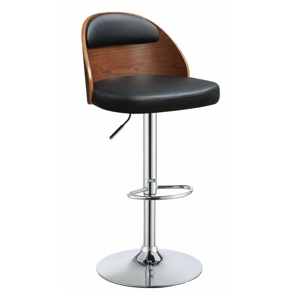 Allentown Adjustable Height Swivel Bar Stool by Ivy Bronx